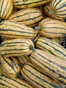 Delicata squash. One of our favorites!